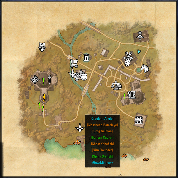 Destinations : Map, Coords, Compasses : Elder Scrolls Online AddOns