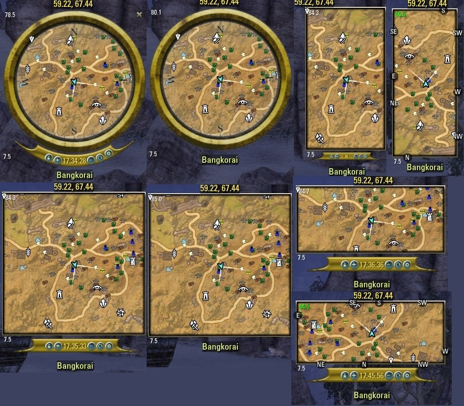 MiniMap by Fyrakin : Map, Coords, Compasses : Elder Scrolls Online