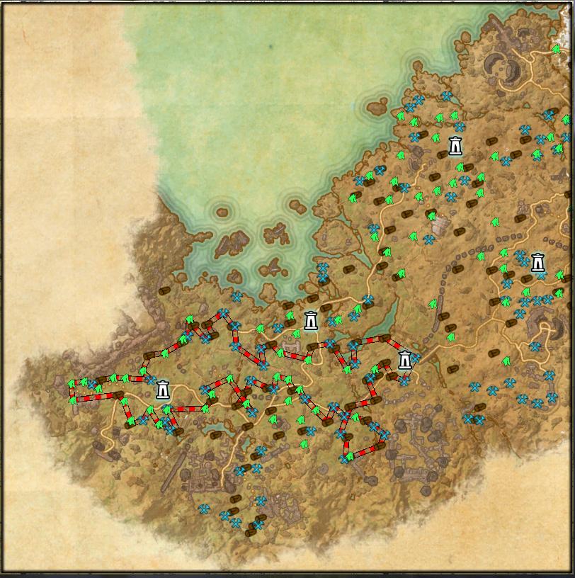 HarvestMap : Map, Coords, Compasses : Elder Scrolls Online AddOns