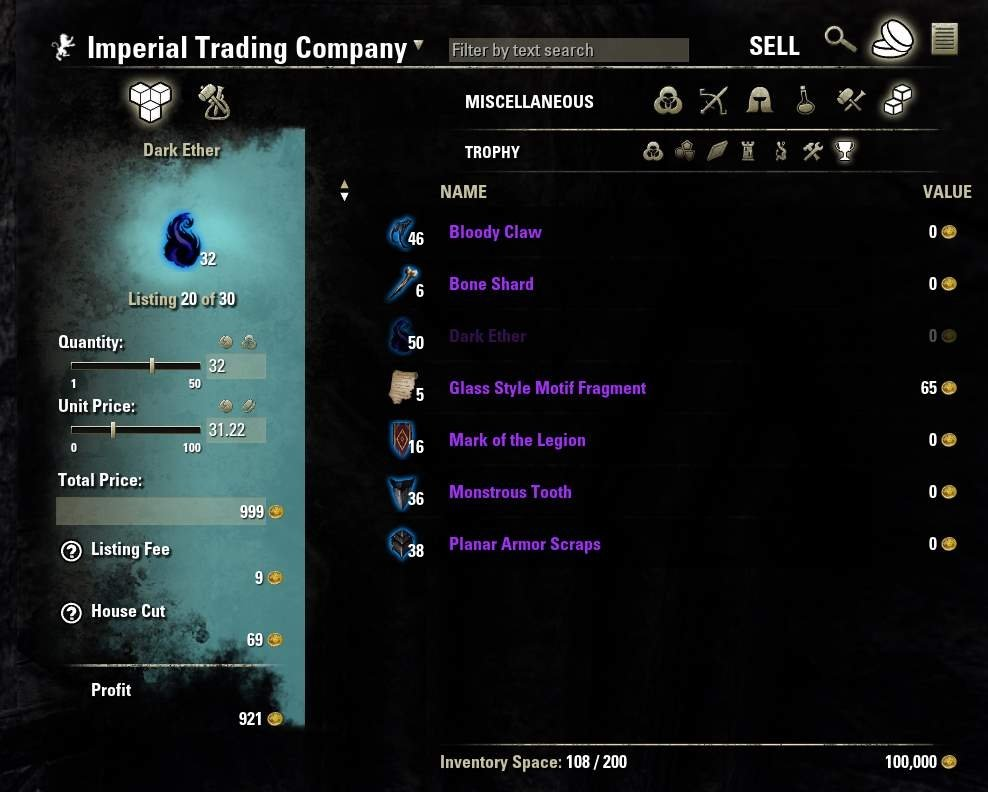 AwesomeGuildStore : Auction House & Vendors : Elder Scrolls