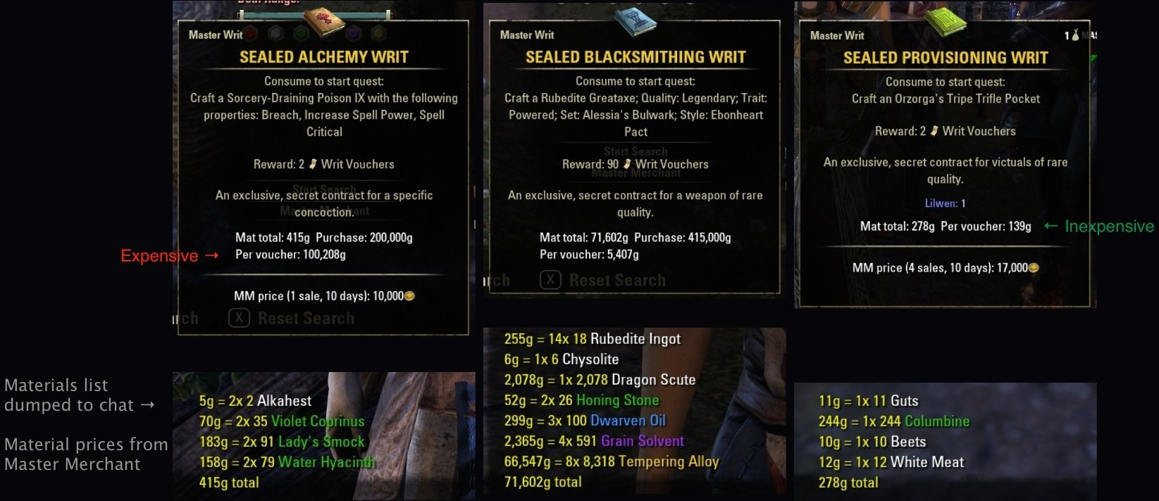 Eso Crafting Preview Addon