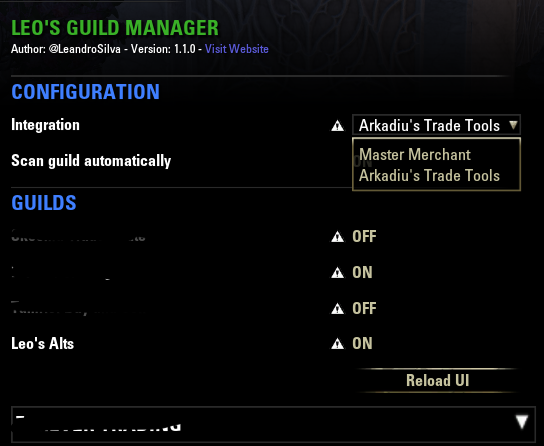 Leo's Guild Manager : Group, Guild & Friends : Elder Scrolls